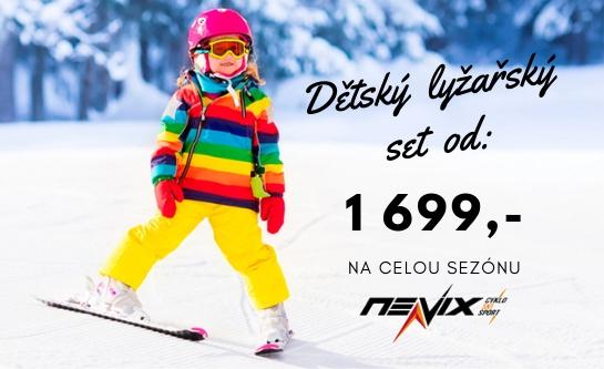 Půjčovna dětský set lyží