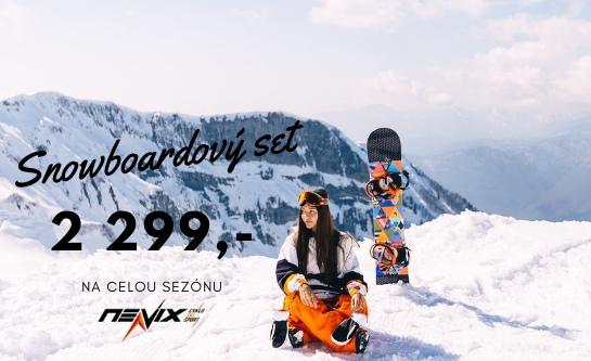 Snowboardový set