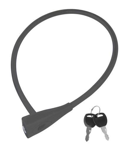 Zámek FORCE klíčkový silikon.bez držáku 65cm/10mm