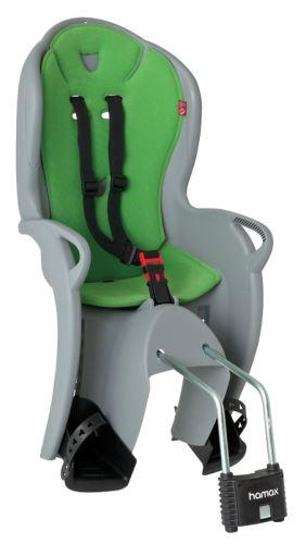 Dětská sedačka HAMAX KISS zadní světle šedá/zelený