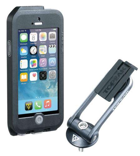 TOPEAK obal WEATHERPROOF RIDECASE pro iPhone 5 + SE černá/šedá