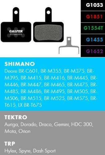 Brzdové destičky Galfer SHIMANO/TEKTRO FD293 - Standard