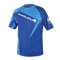Endura triko Singletrack Print II s potiskem Modrá