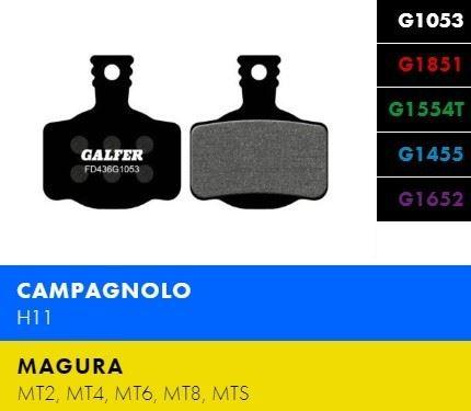 Brzdové destičky Galfer FD436 - Magura, Campagnolo - Standard