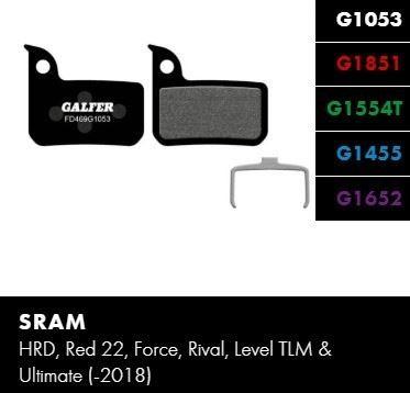Brzdové destičky Galfer SRAM FD469 - Standard