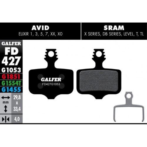 Brzdové destičky Galfer AVID FD427 - Advanced