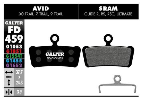 Brzdové destičky Galfer AVID/SRAM FD459 - Advanced