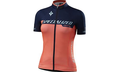 Specialized Women´s SL Pro Jersey 2016 Team Neon Coral/Navy
