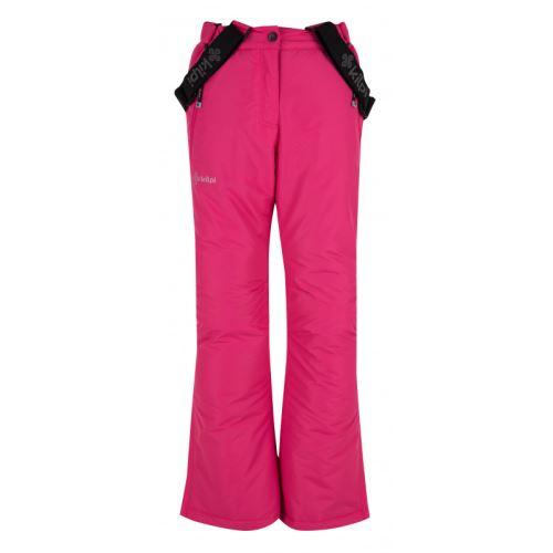 Dívčí lyžařské kalhoty KILPI ELARE-JG Růžová