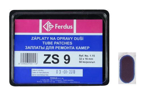 Záplata Lepení ZS9 ovál 32x16mm box 50ks