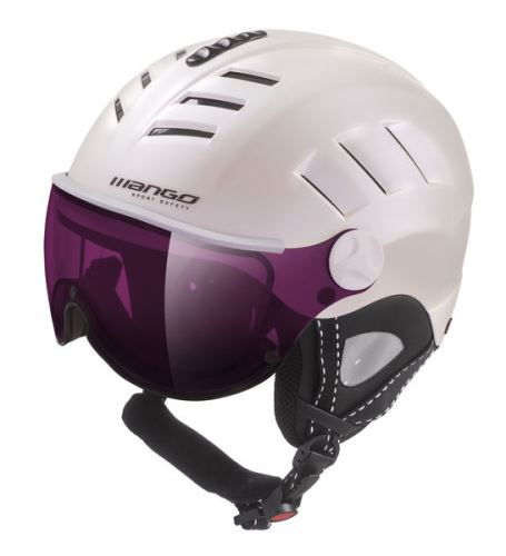 Mango lyžařská přilba VOLCANO VIP, bílá perleť mat