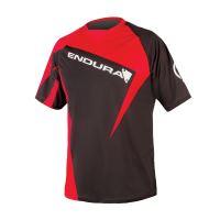 Endura triko Singletrack Print II s potiskem Červená