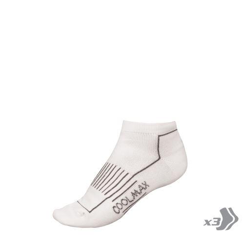 Endura dámské ponožky COOLMAX®Trainer (3-balení) Bílá - vel: 37-42