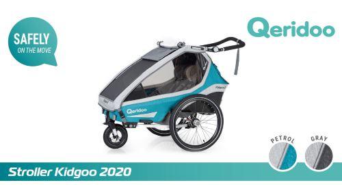 QERIDOO Vozík Kidgoo2 - Petrol Blue 2020 UNI