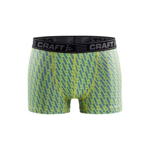 """Boxerky CRAFT Greatness 3"""" Zelená s šedou"""