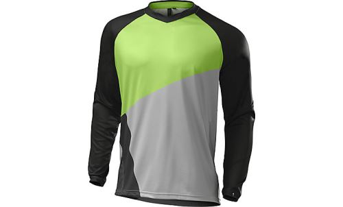 Specialized Demo Pro Long Sleeve Jersey 2017 Monster Green/Grey