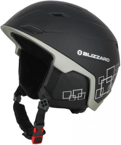 BLIZZARD Double ski helmet , black matt/gun metal/silver squares